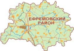 Карта Ефремовского района в полную величину, 98 кб